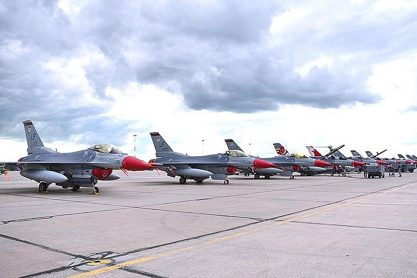 Eight of the RSAF's F-16C/D fighter aircraft and about 100 personnel from its Peace Carvin II detachment in Arizona are participating in Exercise Maple Flag, alongside the air forces of Canada, France, Britain and the US.