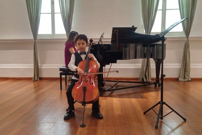 Nine-year-old Yang Jing Tong (above) was a participant of the Singapore International Festival of Music Competition held over the weekend at The Arts House.