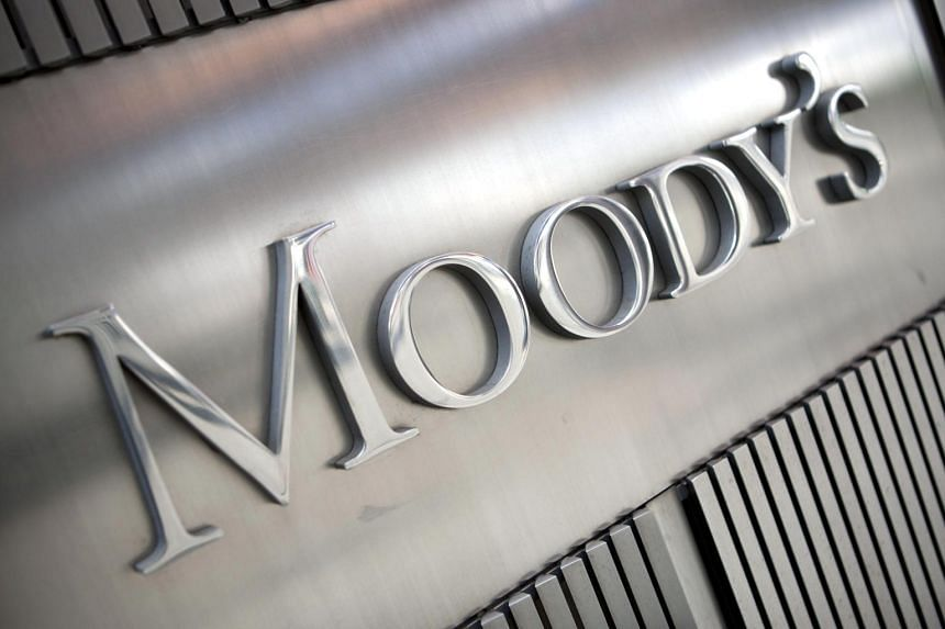 The Moody's Investors Service Inc. logo outside of the company's headquarters.