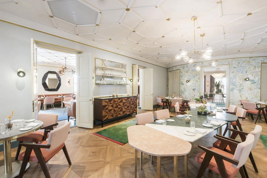 The interior of Australian restaurant Whitegrass at Chijmes which received the highest accolade of Restaurant of the Year at the annual G Restaurant Awards.