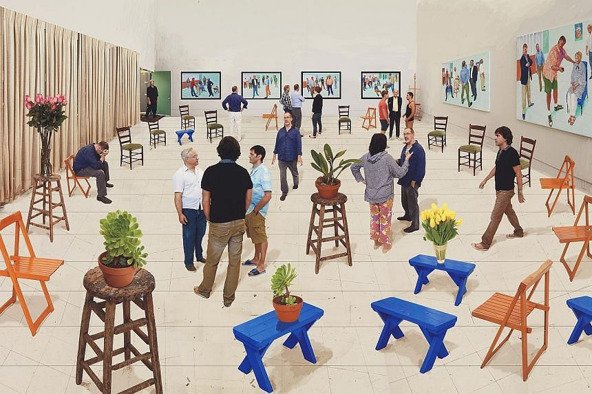 David Hockney's 4 Blue Stools (2014) will be on show at A Matter Of Perspective, an exhibition at STPI Gallery.