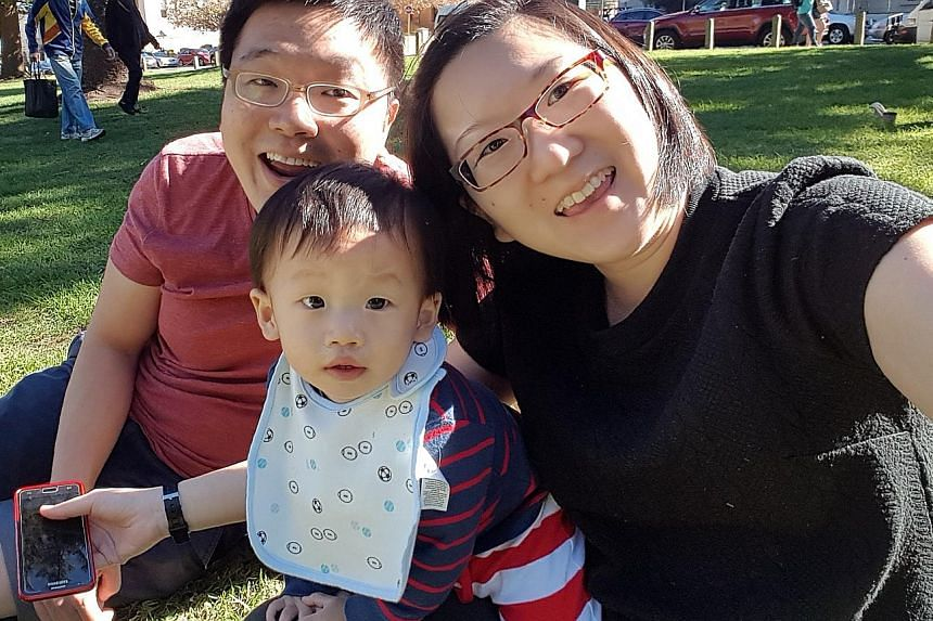 Mr Tan Wei Yi and his wife Stacy restrict screen time for their 16-month-old son, John, but he can watch videos at his grandparents' house when they are at work.