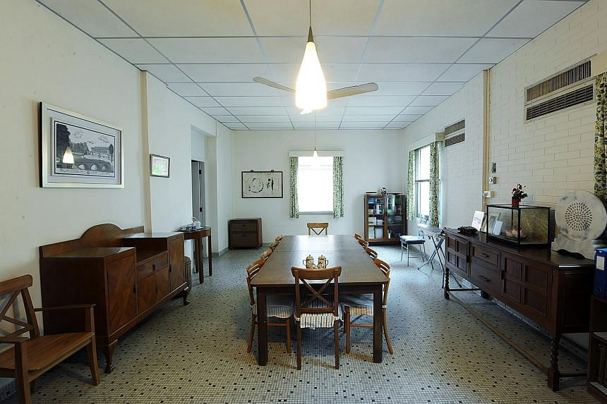 The late founding prime minister Lee Kuan Yew's home at 38, Oxley Road, which is at the heart of the dispute between his children, houses this basement dining room, where many historic meetings took place.