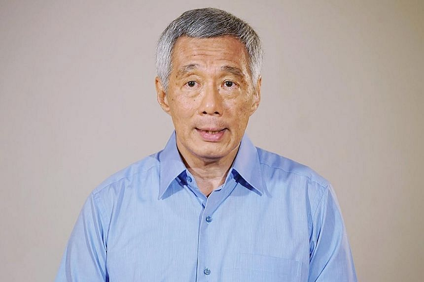 Prime Minister Lee Hsien Loong delivering his statement in a video released yesterday.
