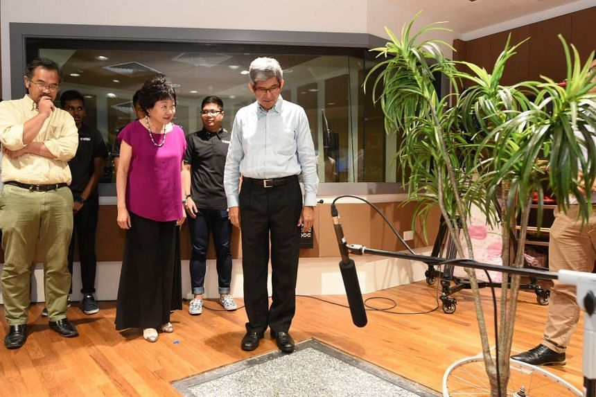 Minister for Communications and Information Yaacob Ibrahim at the launch of the Foley Arts Studio on Tuesday (June 20).