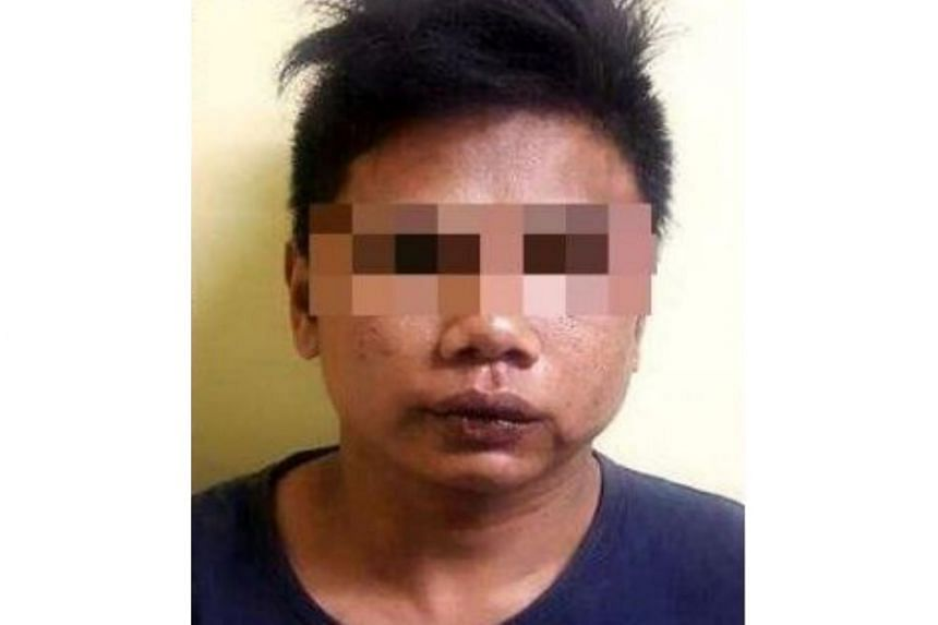 The suspect, a 27-year-old Indonesian, was recaptured a day after he escaped from police custody.