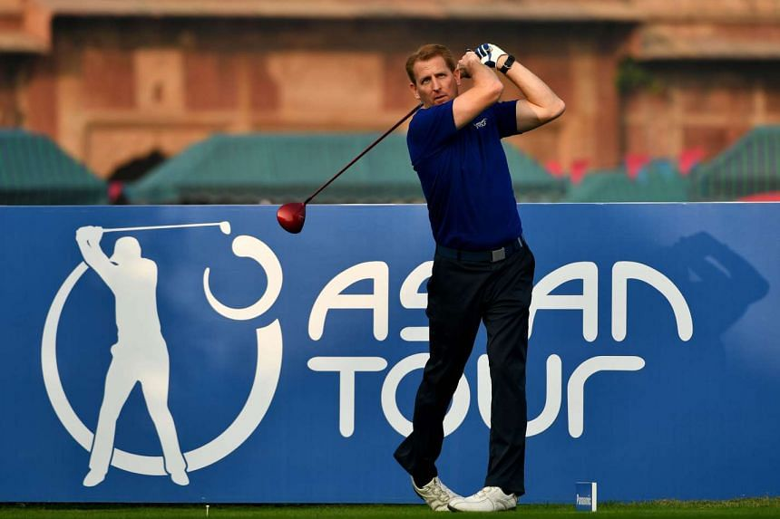 Josh Burack teeing off before the Panasonic Open India in New Delhi in December 2016. The thrilled Asian Tour CEO says 30 members will get to compete in the New Zealand tournament with the expanded tie-up.