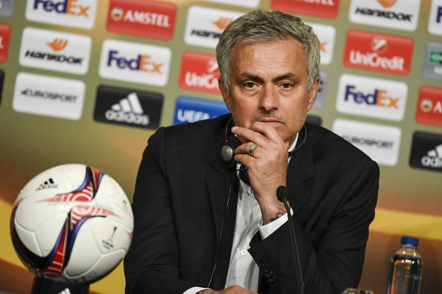 Manchester United manager Jose Mourinho speaks at the post-match press conference after the team won the Uefa Europa League final between Ajax Amsterdam and Manchester United at Friends Arena in Stockholm, Sweden on May 24, 2017.