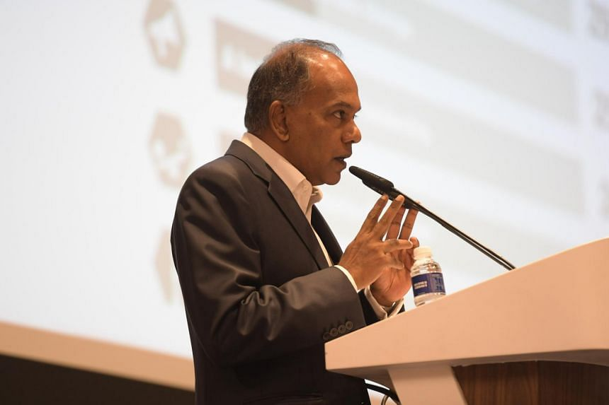 Minister K. Shanmugan delivering the opening address at Keep it Real: Truth and Trust in the Media, on June 19 2017.