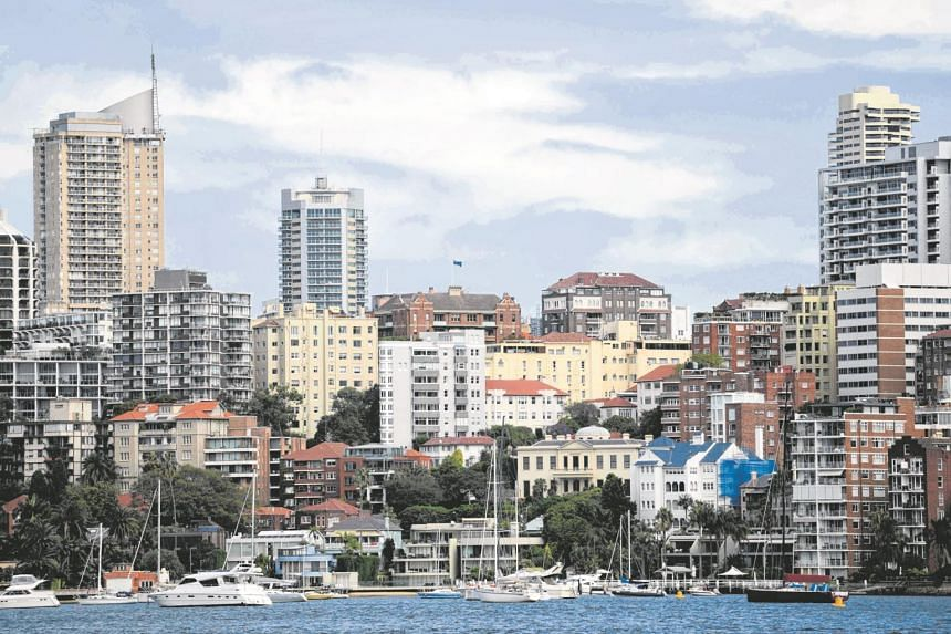A view of Sydney from the harbour of the Rushcutters Bay district.