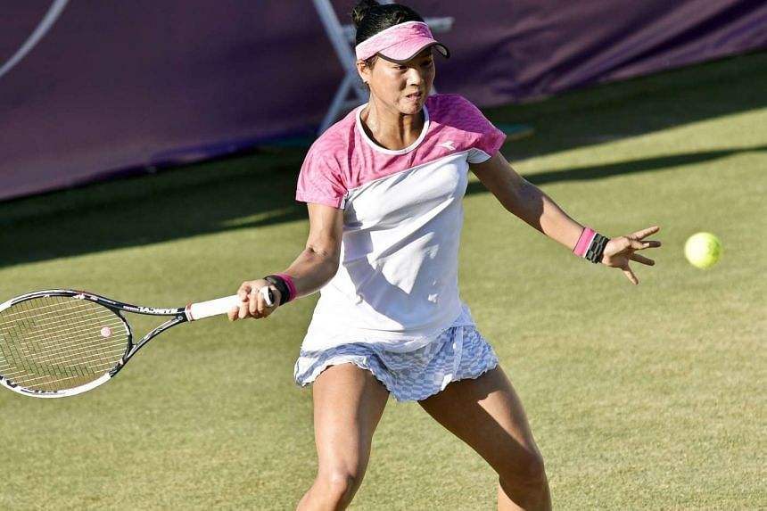 Besides squandering three match points, Japan's Risa Ozaki led 5-3 in the tie-break before succumbing to Victoria Azarenka at the Mallorca Open WTA tennis tournament in Santa Ponca, Balearic Islands on June 21, 2017.