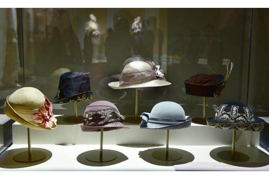 Hats worn by the cast members on display at the exhibition.