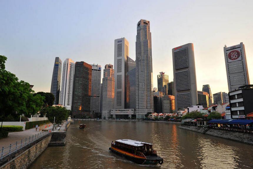 The Singapore Central Business District skyline on Nov 17, 2015.