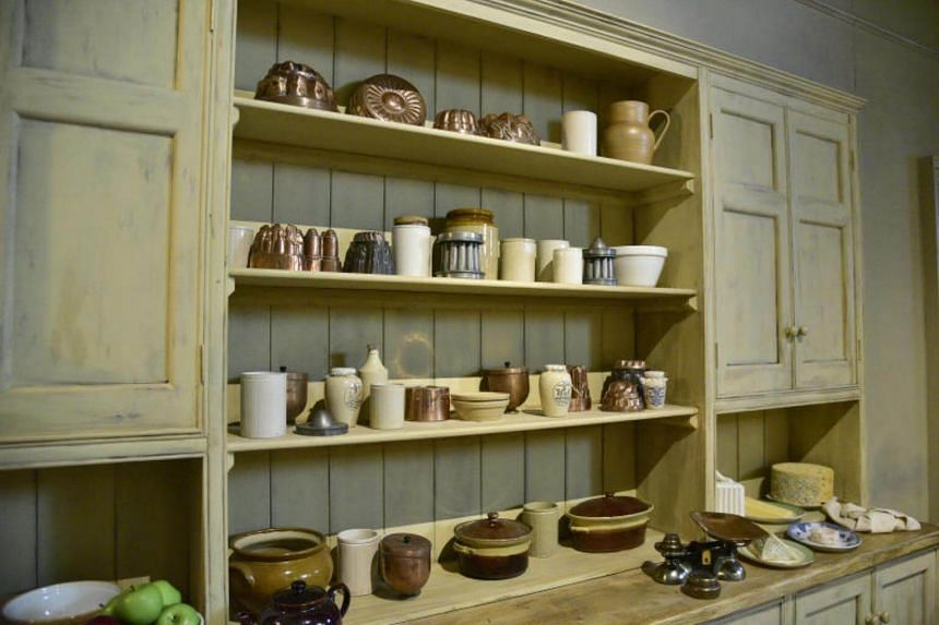A recreation of the Downton Abbey kitchen at the exhibition.