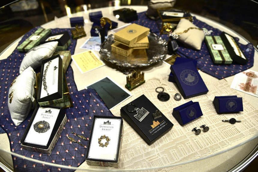 Souvenirs from Downton Abbey: The Exhibition gift shop.