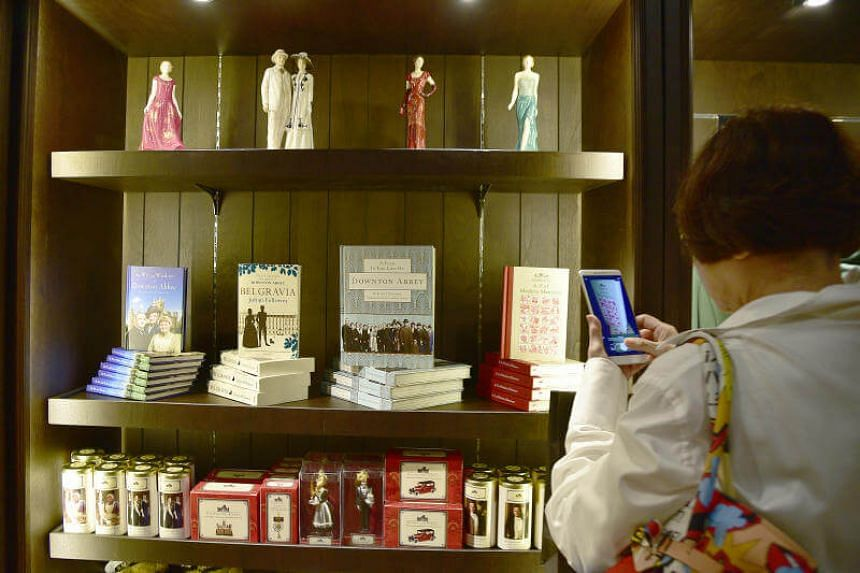 Visitors to Downton Abbey: The Exhibition can shop for a souvenir at the gift shop.