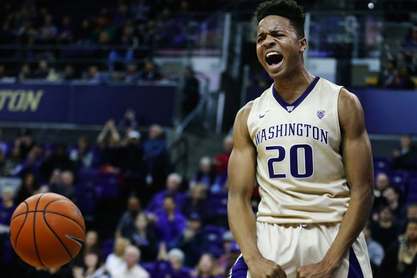 The Philadelphia 76ers are likely to select Markelle Fultz, seen here playing for Washington Huskies on Dec 18, 2016, as their No. 1 NBA draft pick on Thursday.