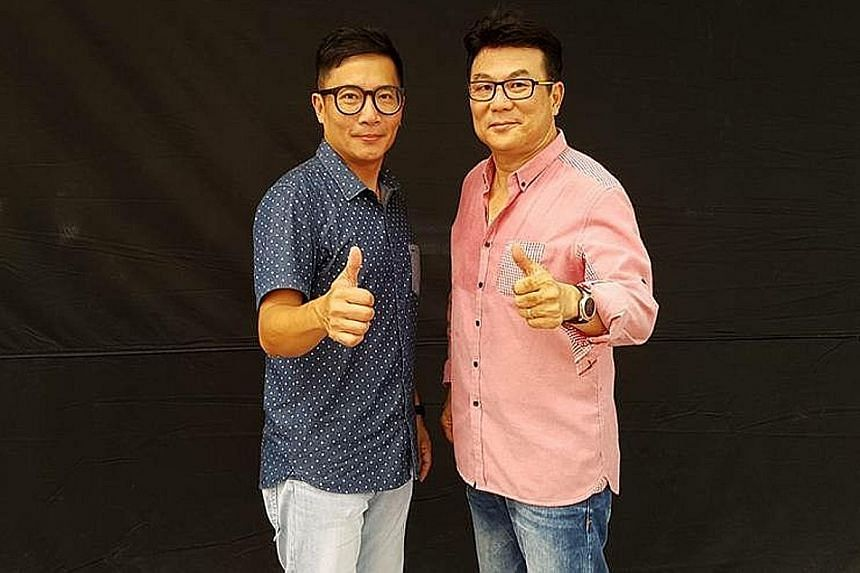 Ivan Ho (left) was the writer for director Jack Neo's films Ah Boys To Men 3: Frogmen and Long Long Time Ago as well as Neo's segment in the anthology 7 Letters.