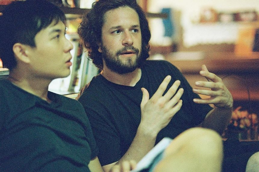 Film-maker Anthony Chen and French cinematographer Benoit Soler on the set of Ilo Ilo.
