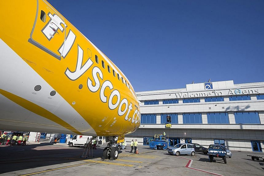 Scoot's inaugural flight to the Greek capital arrived at Athens International Airport yesterday.
