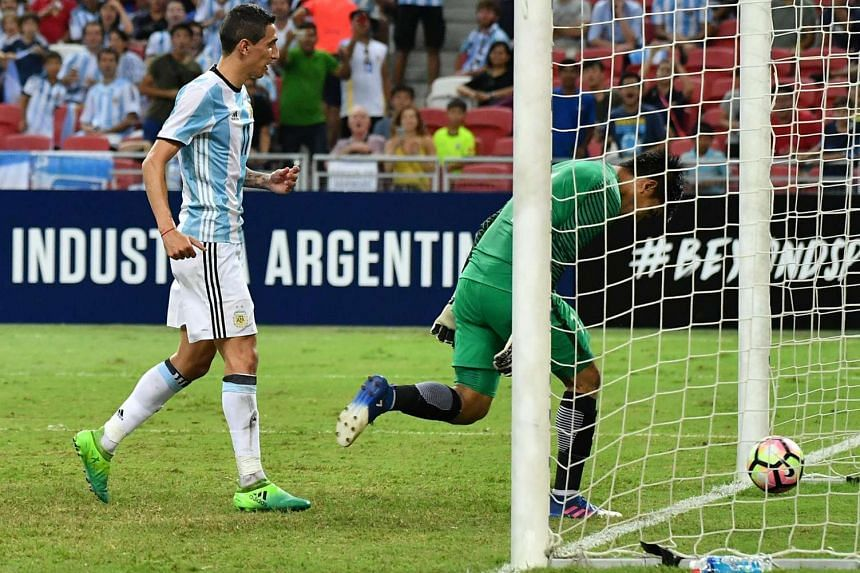 Angel di Maria tapping in the last goal in Argentina's 6-0 thrashing of Singapore. He will plead guilty to two charges of tax fraud and pay a €2 million (S$3.1 million) settlement. A first offender will not serve time if the sentence is below two y