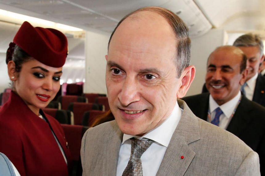 Akbar al Baker, Doha-based Qatar Air's chief executive officer, used the platform to make an impromptu speech in which he condemned the blockade of Qatar.