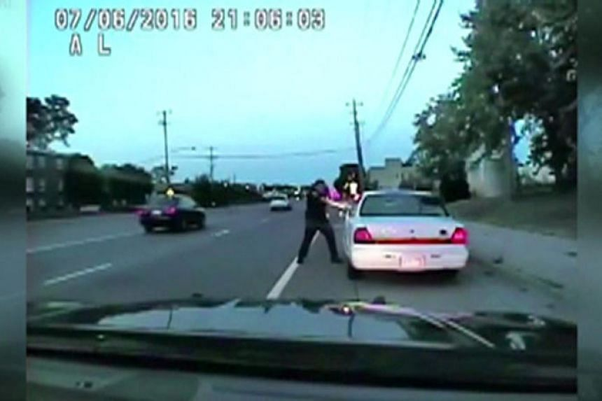 A still photo taken from a dashcam video that shows the July 2016 police shooting of Philando Castile, a black motorist, during a traffic stop in Ramsey County, Minnesota, by officer Jeronimo Yanez released on June 20, 2017.