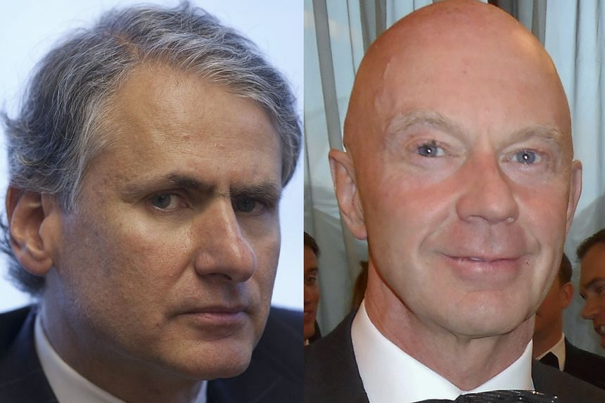 Former Barclay executives Thomas Kalaris (left), Roger Jenkins (right), John Varley and Richard Boath. The probe centred on commercial pacts between the bank and Qatari investors during two emergency fund-raisings in 2008.