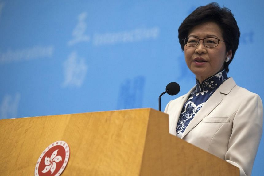 Carrie Lam Yuet-ngor, Hong Kong Chief Executive-elect, speaks at a press conference to announce her newly appointed cabinet, at Hong Kong's Central government offices, Hong Kong, China, on June 21, 2017.