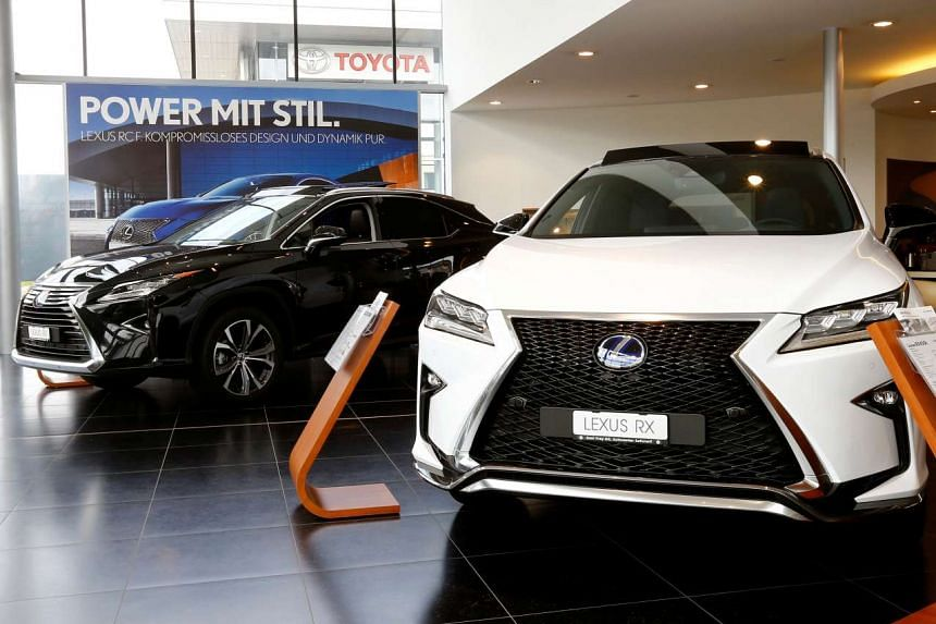Lexus cars in a showroom of Swiss Emil Frey in Safenwil, Switzerland on May 31, 2017. The Japanese luxury brand ranked 15th out of 32, falling from seventh last year and first as recently as 2012.