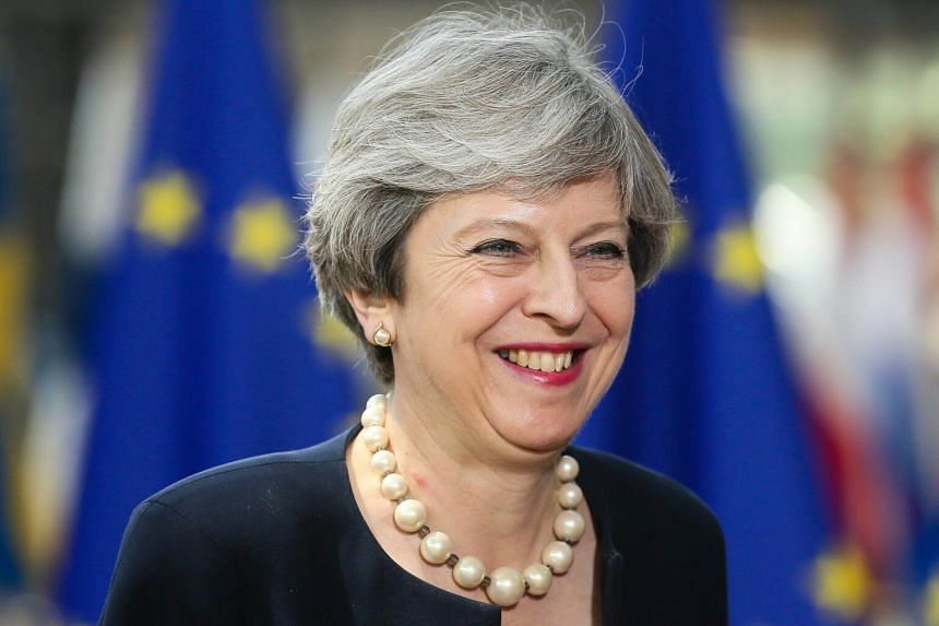 British Prime Minister Theresa May in Brussels, Belgium, on June 22, 2017.