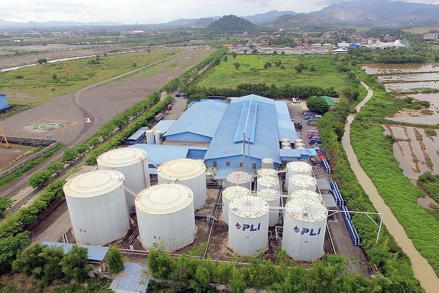 PLI sits on a 4.15ha plot 95km west of Jakarta, of which 2.6ha is built up with tank farms and a jetty, leaving 1.5ha of space free for expansion. The factory is owned by UGL's executive director, Ms Ety Wiranto, and her siblings.