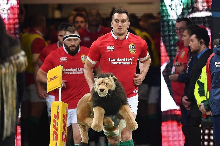 Captain Sam Warburton leading the British and Irish Lions out against the Highlanders. They will play the All Blacks on Saturday at Eden Park, where the world champions have not lost since 1994, in the first of three Tests.