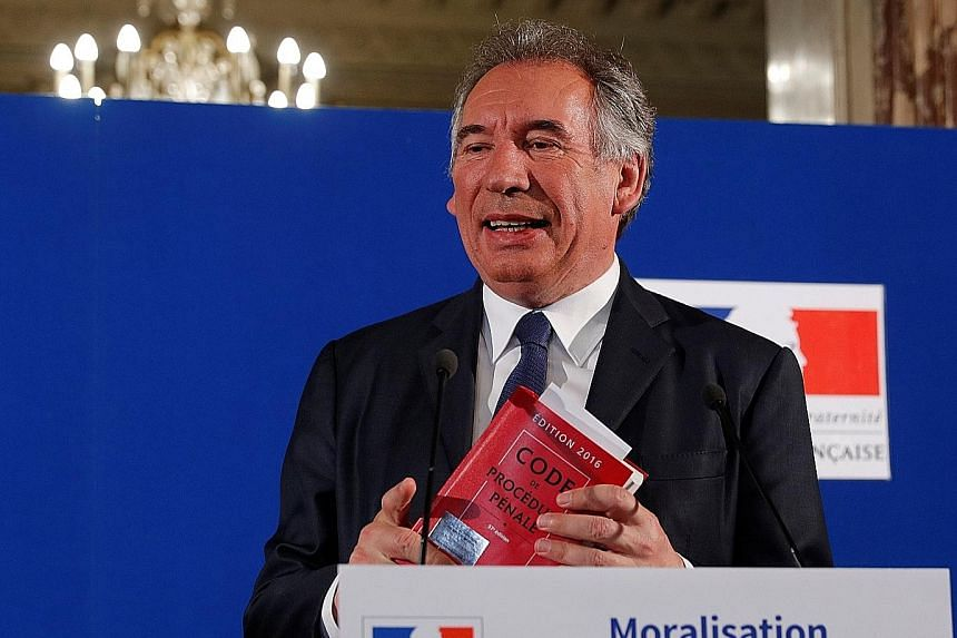 Mr Francois Bayrou is a veteran centrist figure who was a major backer of Mr Emmanuel Macron during his presidential election campaign.