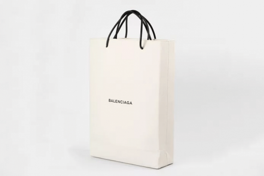 French luxury brand Balenciaga has launched a tote bag which resembles an ordinary paper shopping bag.