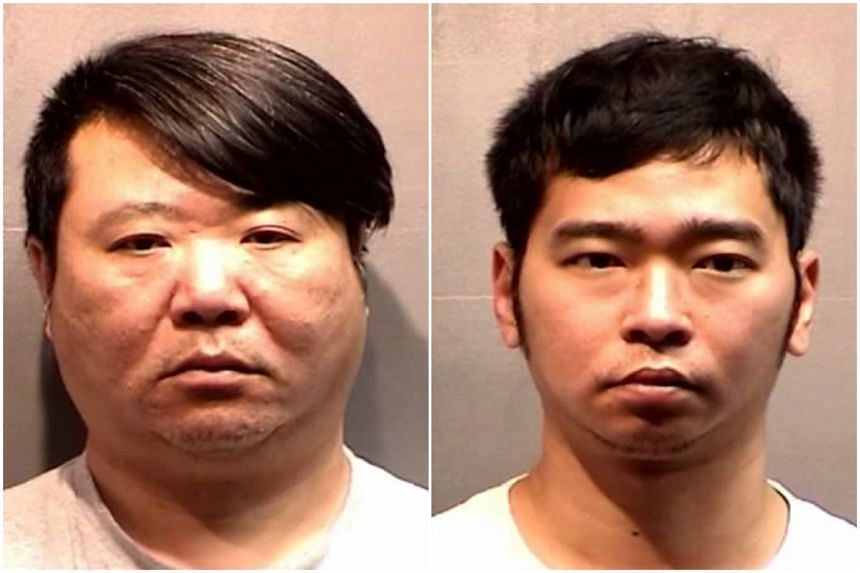 Cheung Siu Wa, (left) and Chow Chun Tung duped four shops into paying them $18,900 for six fake luxury watches.