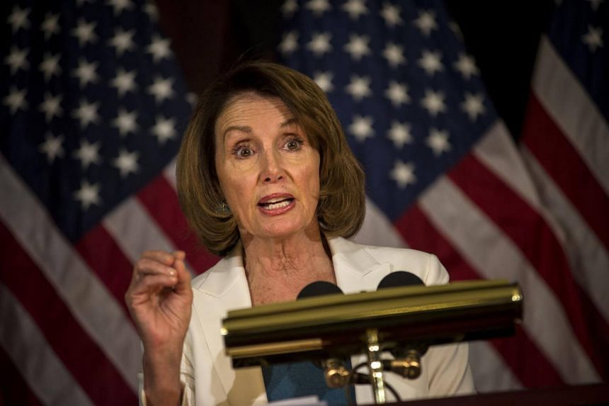 House Minority Leader Nancy Pelosi discusses the Republican health care bill at a news conference on Capitol Hill in Washington.