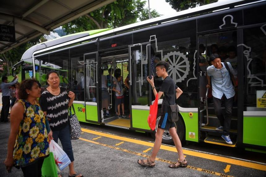 Commuters find the new three-door single-deck bus an improvement in exiting the vehicle faster.