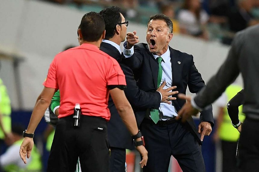 Mexico's Colombian coach Juan Carlos Osorio reacts during the 2017 Confederations Cup group A football match between Mexico and New Zealand at the Fisht Stadium in Sochi on June 21, 2017.
