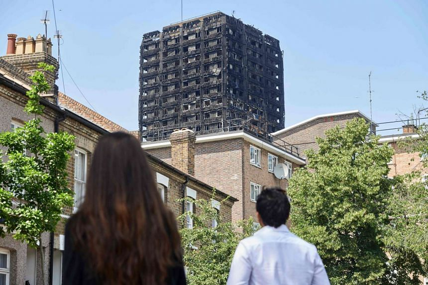 British Prime Minister Theresa May has cited the results of tests conducted after the London Fire and a number of British tower blocks have combustible cladding.