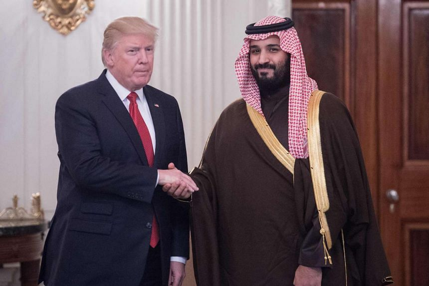 Trump meeting Crown Prince Mohammed bin Salman in March 2017 at the White House.