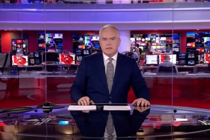 BBC presenter Huw Edwards sat in silence for close to four minutes.