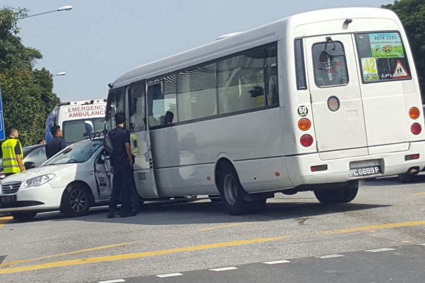 Two people were injured but did not want to be taken to hospital, the Singapore Civil Defence Force said.