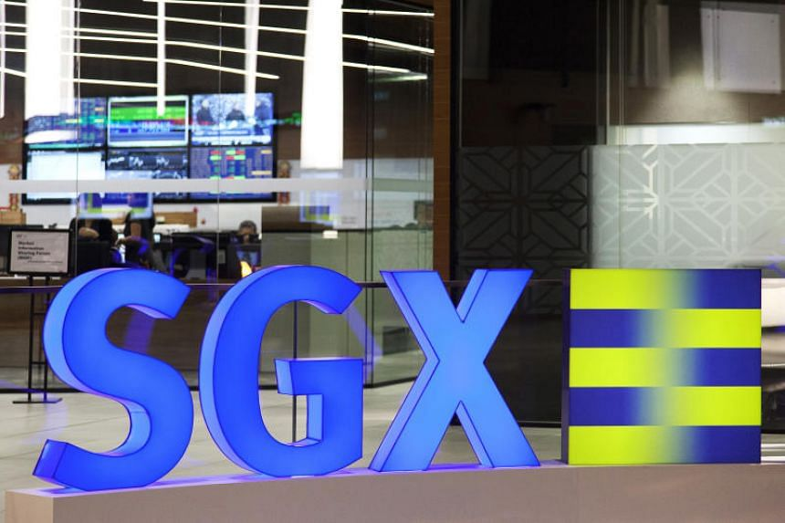 The Singapore Exchange signage is displayed inside the bourse's headquarters in Singapore.
