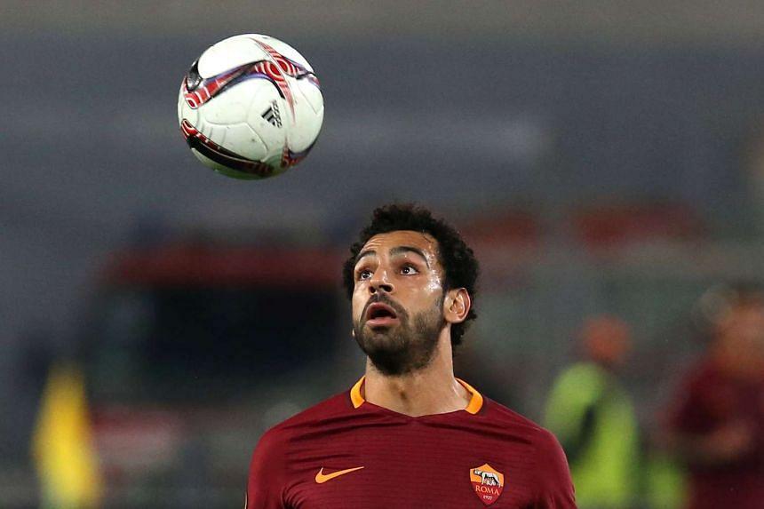Roma's Mohamed Salah in action.