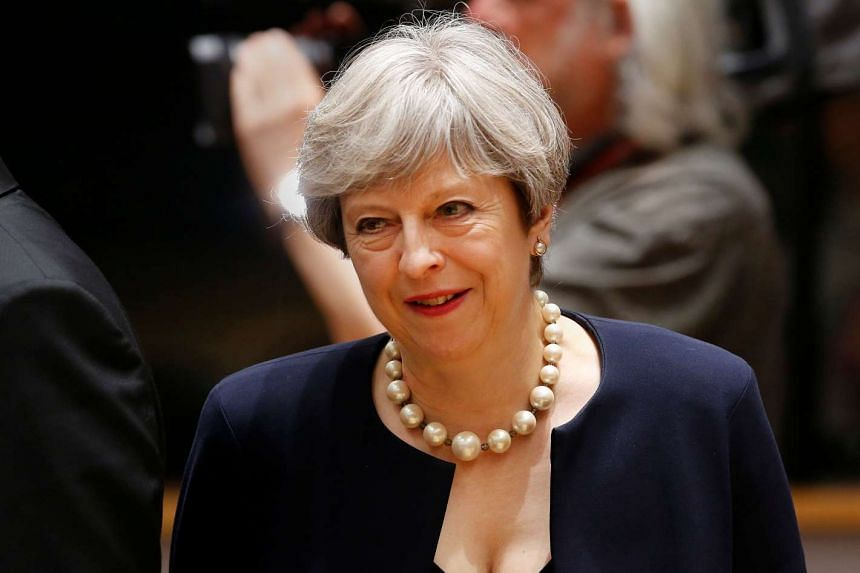 British Prime Minister Theresa May attends the EU summit in Brussels, Belgium, June 22, 2017.