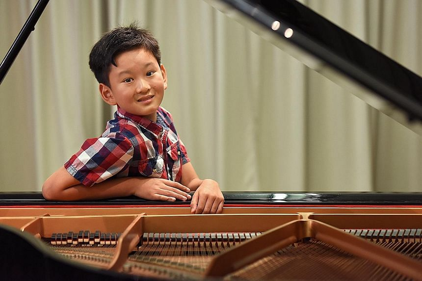 Ryan Wang, nine, asked for piano lessons when he was four, after hearing the instrument featured in songs by Michael Jackson.