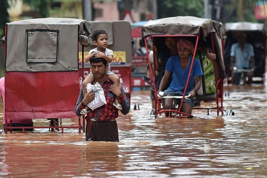 Guwahati, the capital of India's north-eastern Assam state, was under water yesterday as torrential rain continued to cause misery in the north-east of the country. Floods since early this month have left at least 20 people dead, including 12 due to