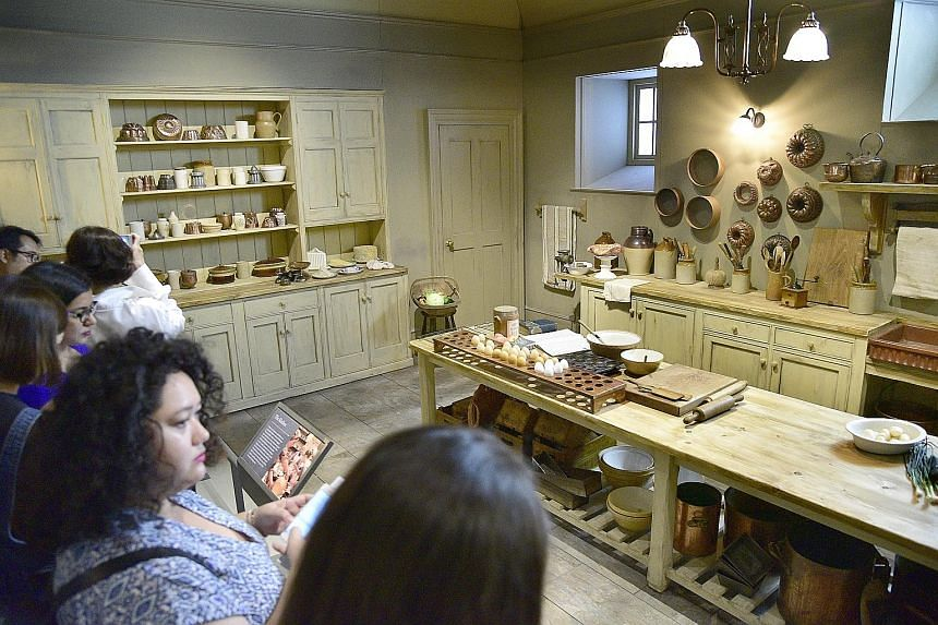 A re-creation of British television show Downton Abbey's kitchen at the exhibition at Sands Expo and Convention Centre.