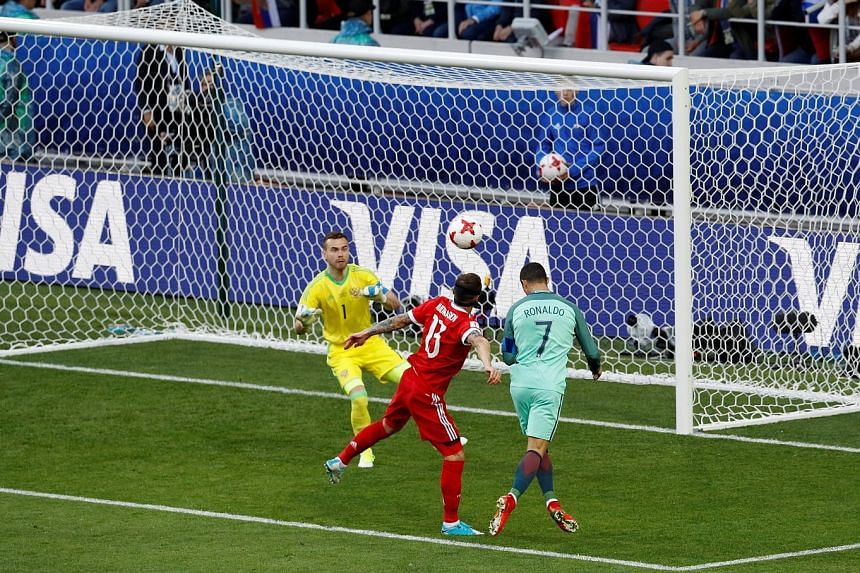 Cristiano Ronaldo heading home the only goal of the match as Portugal won their first match at the Confederations Cup, beating hosts Russia 1-0 on Wednesday. The Portuguese captain set up the opening goal in his side's earlier match, against Mexico,